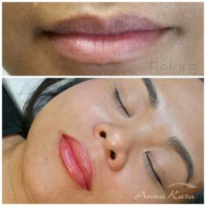 3D effect lips permanent makeup