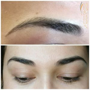 eyebrows hair stroke