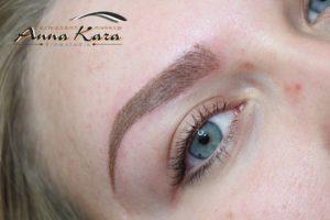permanent makeup hair stroke