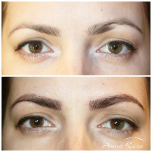 shape change eyebrows permanent makeup