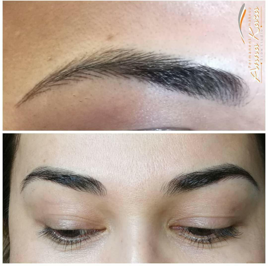 Natural eyebrows for one of the client permanent makeup for Best eyebrow tattoo san diego