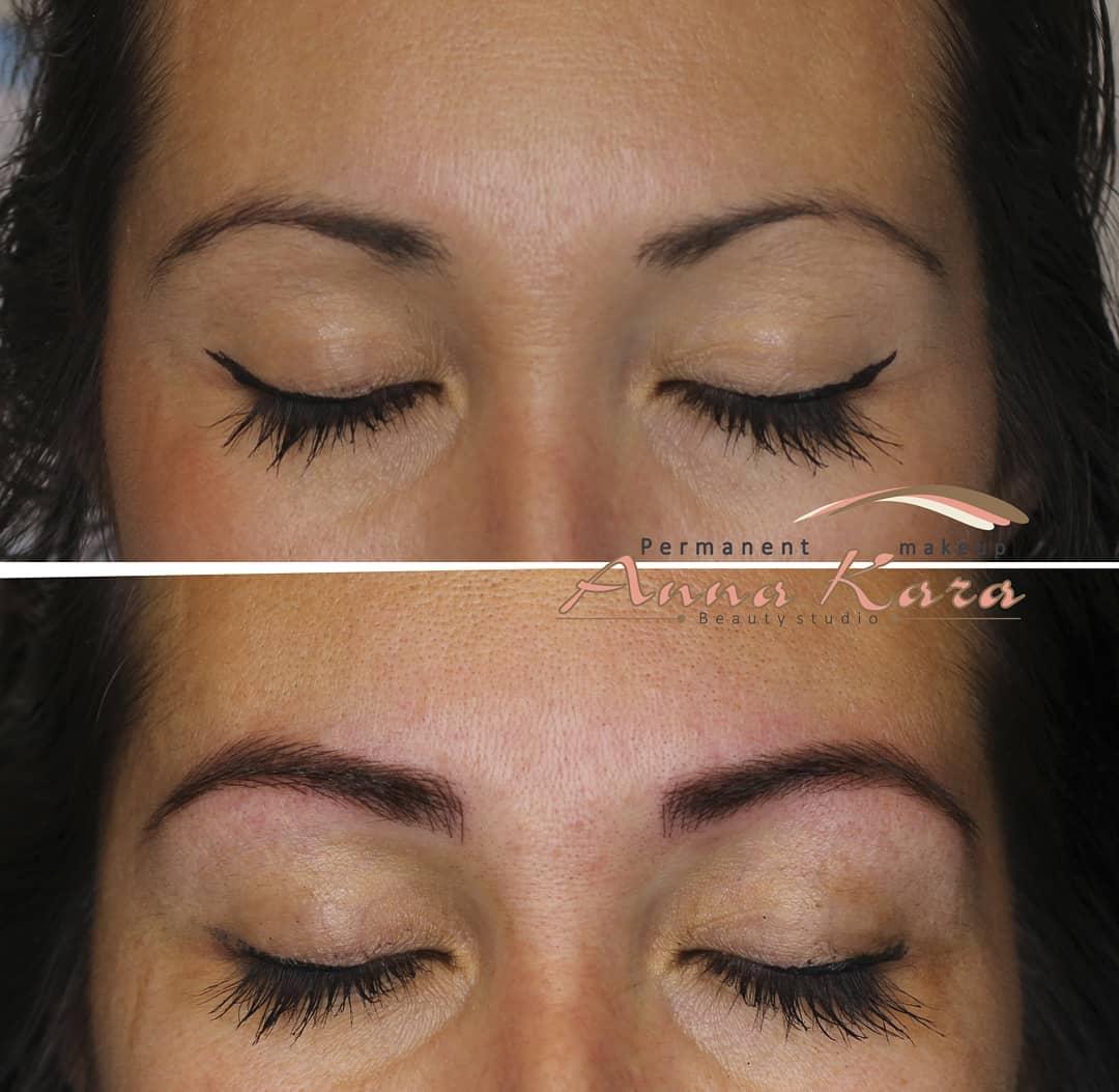 Combo Technique Permanent Eyebrows Makeup Permanent Makeup San Diego
